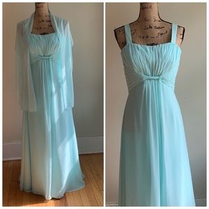 Mori Lee by Madeline Gardner blue dress gown 12